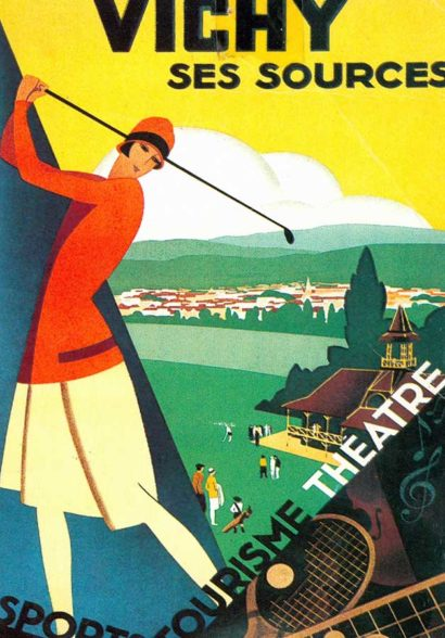 Affiche vintage Sporting Golf Vichy